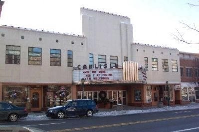 The Carlisle Theatre and Marker image. Click for full size.