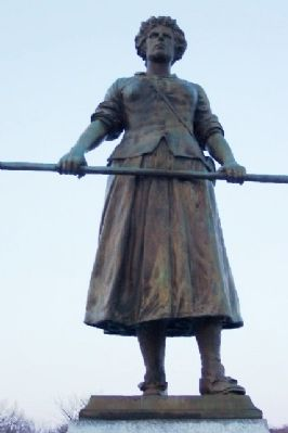 Molly Pitcher Statue at Gravesite image. Click for full size.