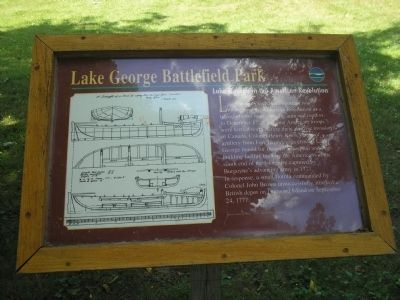 Lake George in the American Revolution Marker image. Click for full size.