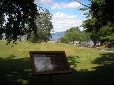 Marker in Lake George Battlefield Park	 image. Click for full size.