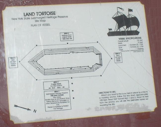 Land Tortoise Site Map from Marker image. Click for full size.