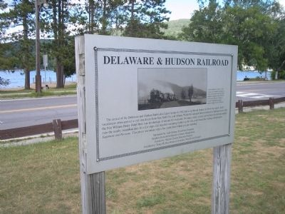 Delaware & Hudson Railroad Marker image. Click for full size.