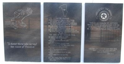 Greenville County Vietnam Veterans Memorial -<br>Southwest Wall image. Click for full size.