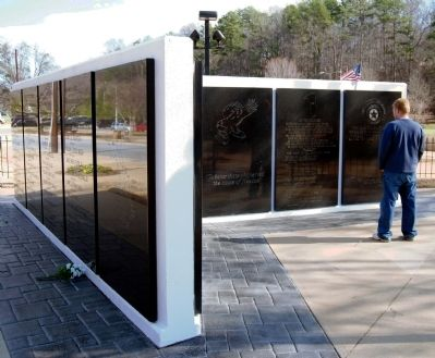 Greenville County Vietnam Veterans Memorial - <br>East Wall image. Click for full size.