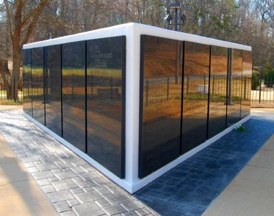 Greenville County Vietnam Veterans Memorial -<br>West and East Walls image. Click for full size.
