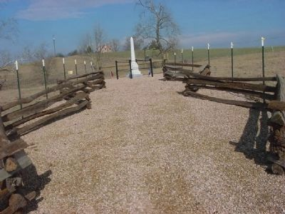 Post-Appomattox Tragedy walkway to Monument image. Click for full size.