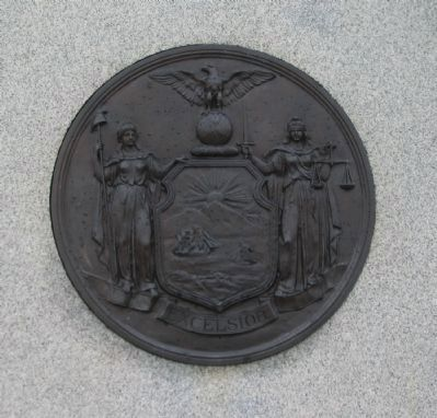 State Seal on Back of Monument image. Click for full size.