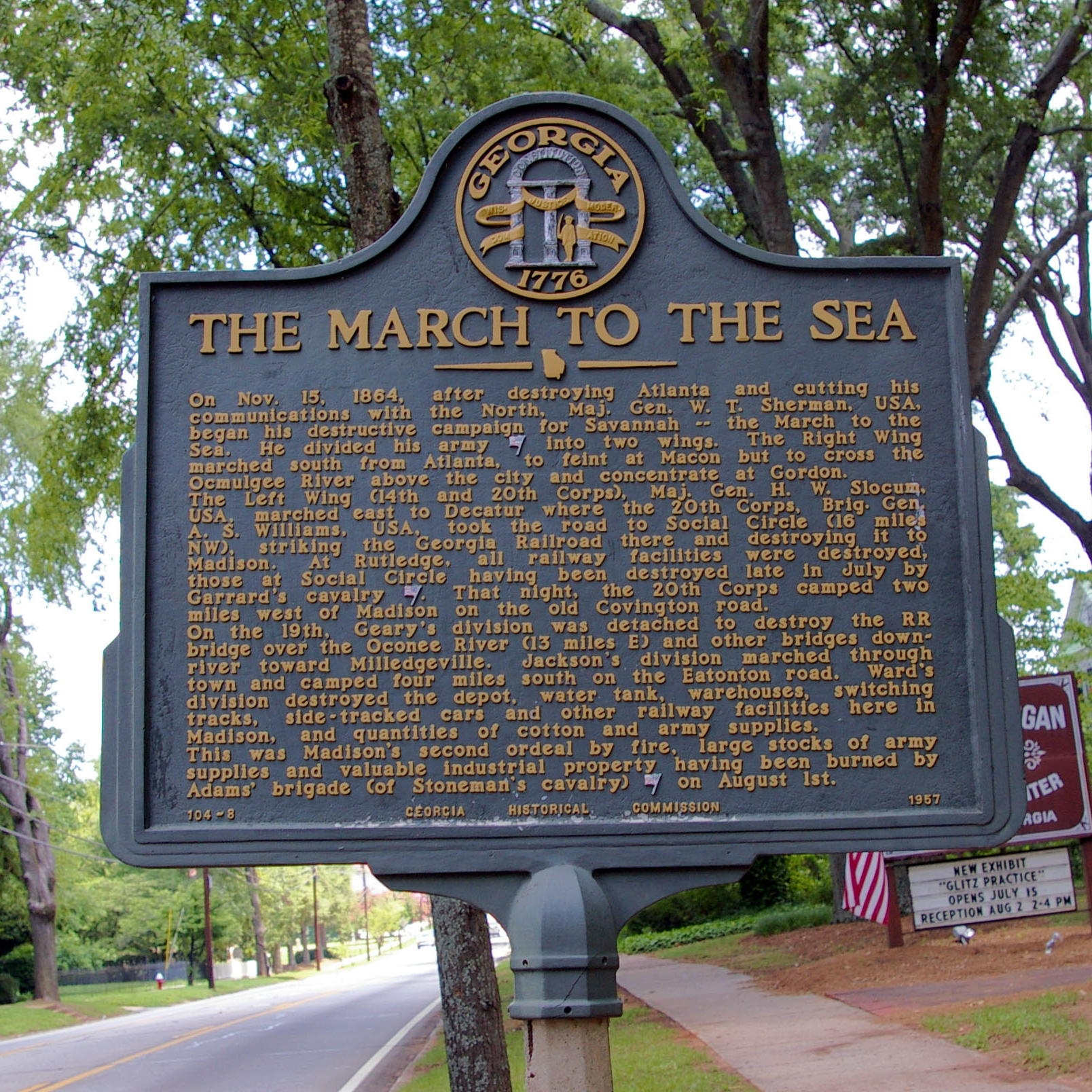 The March to the Sea Marker