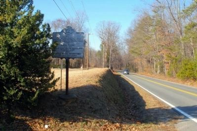 Totopotomoi Marker on Studley Road facing west. image. Click for full size.