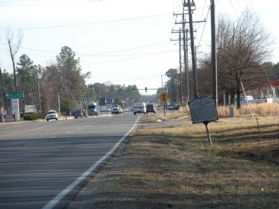 Jackson's March to Mechanicsville Marker on US Route 1 facing south. image. Click for full size.