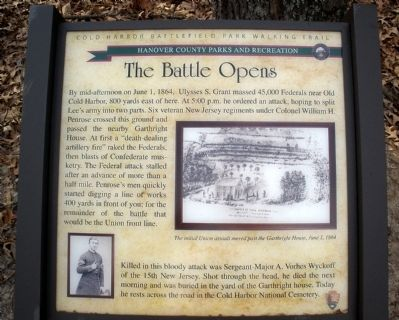 The Battle Opens Marker image. Click for full size.