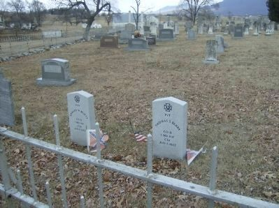 Graves of Marylanders killed in the Battle of Harrisonburg image. Click for full size.