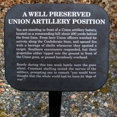 A Well Preserved Union Artillery Position Marker image. Click for full size.