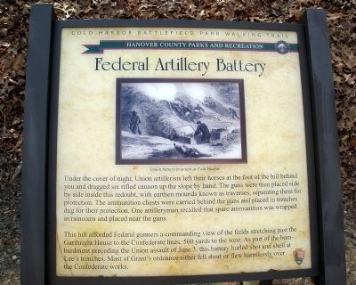Federal Artillery Battery Marker image. Click for full size.