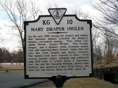 Mary Draper Ingels Marker image. Click for full size.