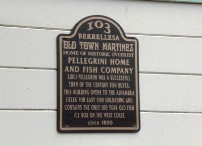 Pellegrini Home and Fish Company Marker image. Click for full size.