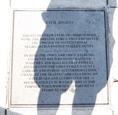 Sterling High School Memorial Marker -<br>Civil Rights image. Click for full size.