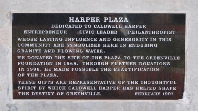 Harper Plaza Marker image. Click for full size.