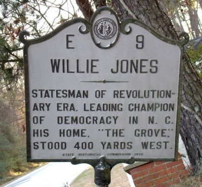 Willie Jones Marker image. Click for full size.