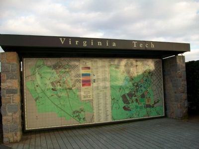 Virginia Tech Campus Map image. Click for full size.