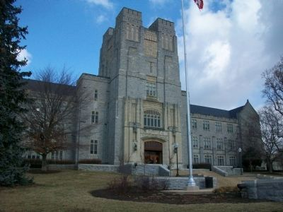 Burruss Hall image. Click for full size.