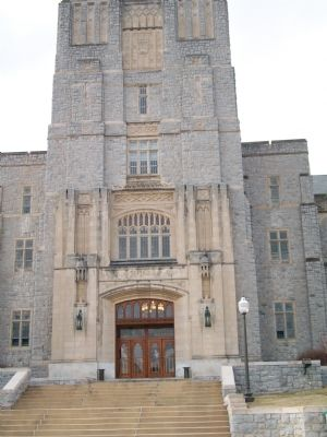 Entrance to Burruss Hall image. Click for full size.