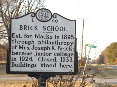 Brick School Marker image. Click for full size.