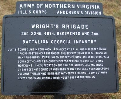 Wright's Brigade Tablet image. Click for full size.