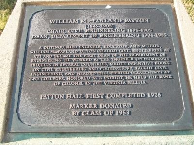 William MacFarland Patton Marker image. Click for full size.