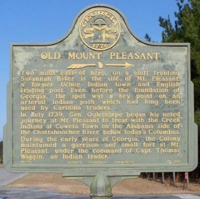 Old Mount Pleasant Marker image. Click for full size.