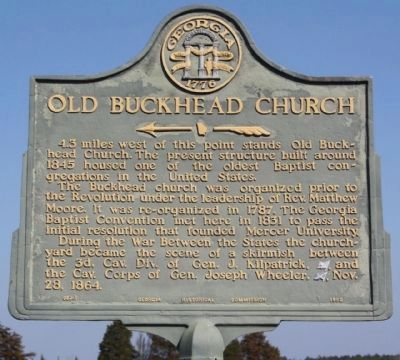 Old Buckhead Church Marker image. Click for full size.