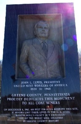 Greene County Coal Miners Memorial image. Click for full size.