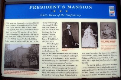 President's Mansion CWT Marker image. Click for full size.