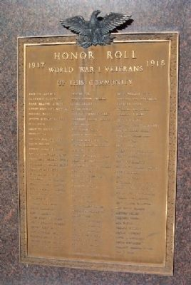 Milford World War I Honor Roll image. Click for full size.