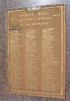 Milford World War II Honor Roll image. Click for full size.