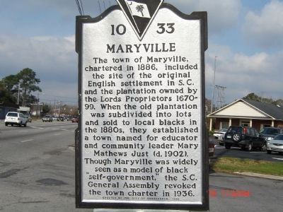 Maryville Marker image. Click for full size.