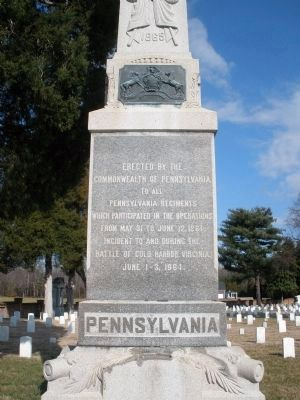 Pennsylvania Monument (south face). image. Click for full size.