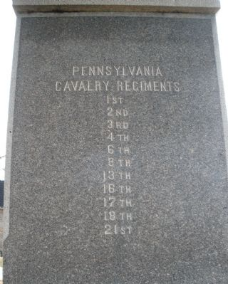 Pennsylvania Cavalry Regiments (east face). image. Click for full size.