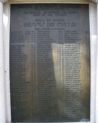 Eighth N. Y. Heavy Artillery Monument image. Click for full size.