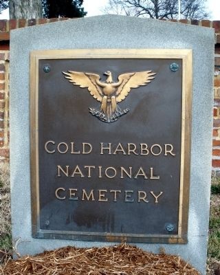 Cold Harbor National Cemetery. image. Click for full size.