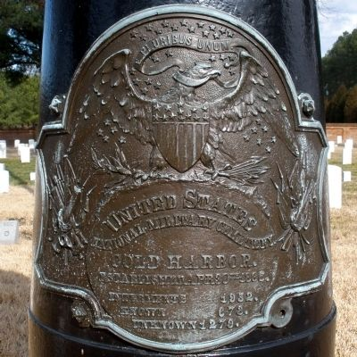 Cold Harbor National Cemetery Bronze Plaque. image. Click for full size.