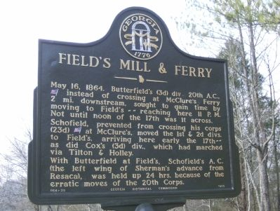 Field's Mill & Ferry Marker image. Click for full size.