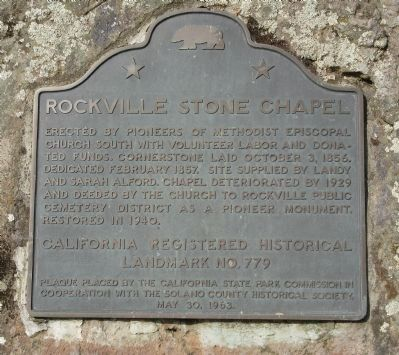 Rockville Stone Chapel Marker image. Click for full size.