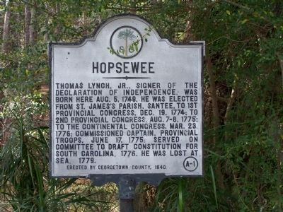 Hopsewee Marker image. Click for full size.