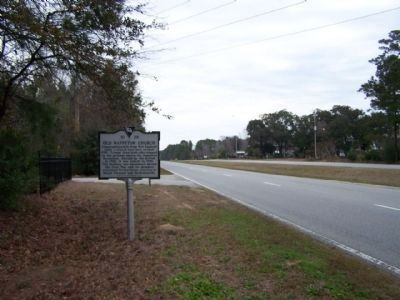 Old Wappetaw Church Marker, looking north along US 17 image. Click for full size.