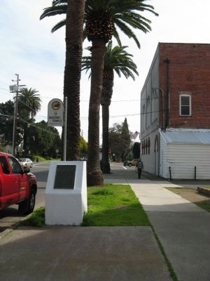 First Masonic Hall Built in California Marker image. Click for full size.