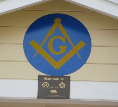The Masonic Emblym and Heritage 76 Marker image. Click for full size.