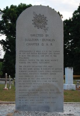 Erected by Sullivan - Dunklin Chapter D.A.R. Marker - Front image. Click for full size.