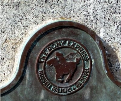 Pony Express Emblem at top of Marker image. Click for full size.