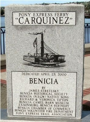 "Front of Pony Express Ferry ""Carquinez"" Marker image. Click for full size."